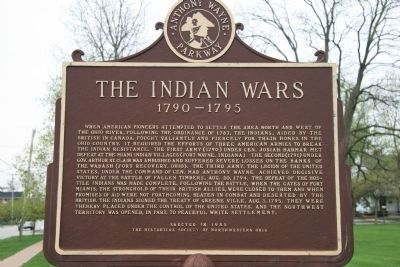 The Indian Wars Marker image. Click for full size.
