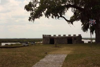 Fort Frederica's remains image. Click for full size.