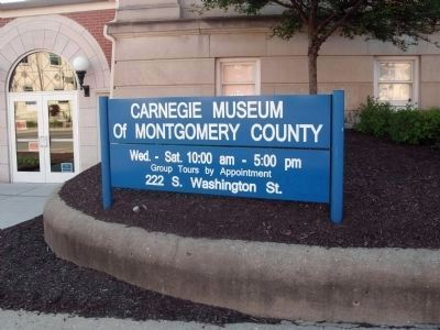"""Carnegie Museum of Montgomery County"" Sign image. Click for full size."