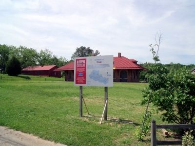Lee's Retreat Marker at Burkeville Depot. image. Click for full size.