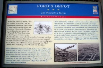 Ford's Depot CWT Marker image. Click for full size.