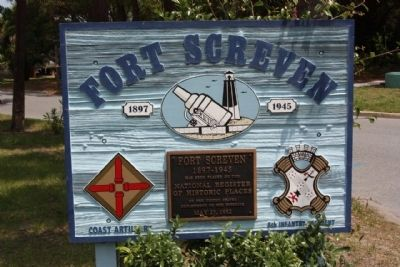 Fort Screven Marker image. Click for full size.