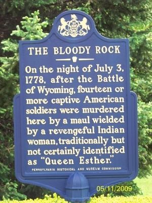 The Bloody Rock Marker image. Click for full size.