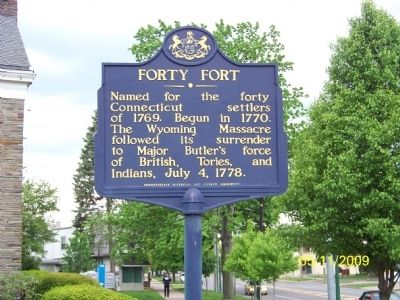 Forty Fort Marker image. Click for full size.