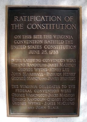 Ratification of the Constitution Marker image. Click for full size.