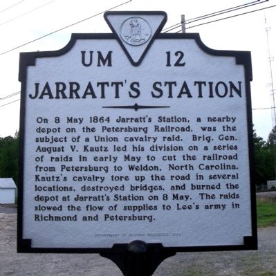 Jarratt's Station Marker image. Click for full size.