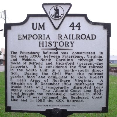 Emporia Railroad History Marker image. Click for full size.