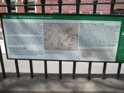 Copp's Hill and the American Revolution Marker image. Click for full size.