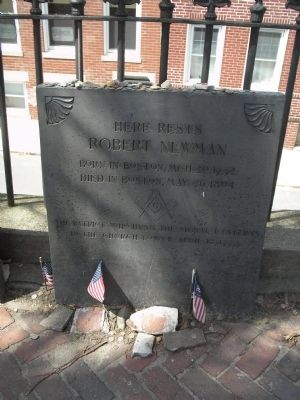 Grave of Robert Newman image. Click for full size.