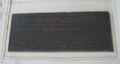 The Squatters Riot Marker image. Click for more information.