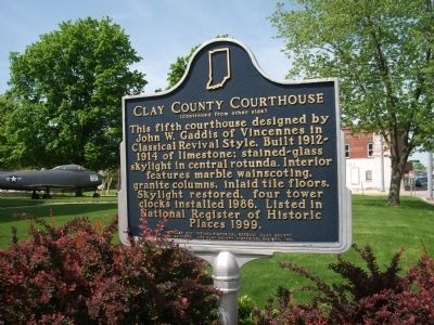 Side Two - - Clay County (Indiana) Courthouse Marker image. Click for full size.