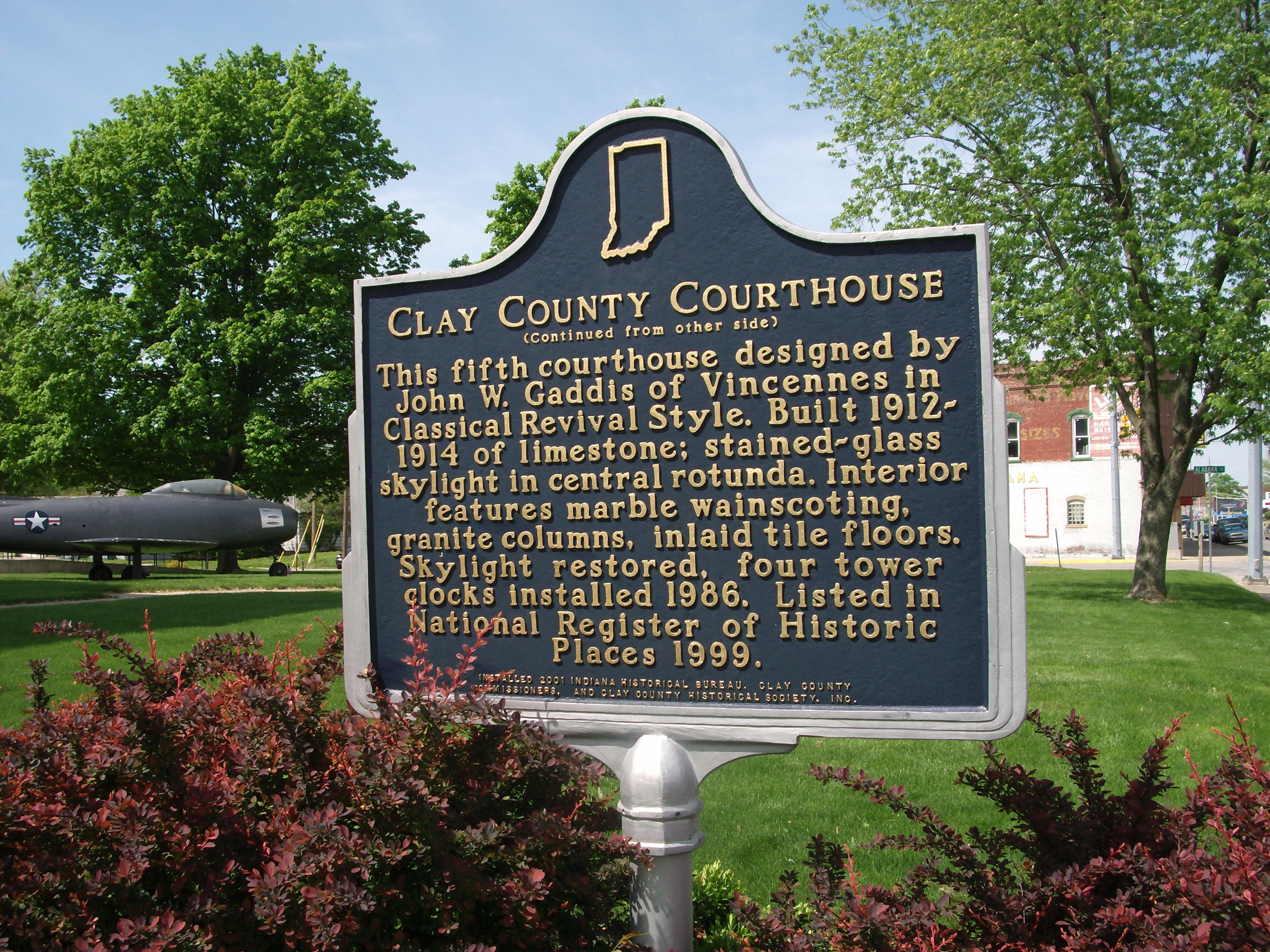 Side Two - - Clay County (Indiana) Courthouse Marker