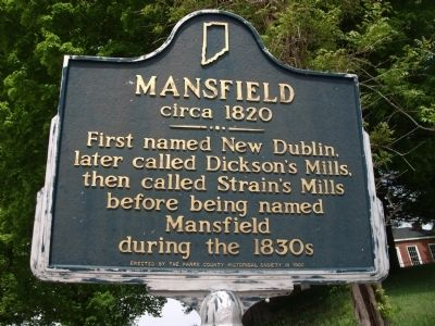 Mansfield circa 1820 Marker image. Click for full size.