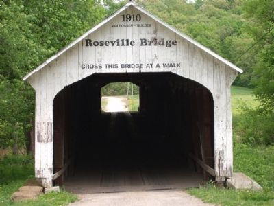 Covered Bridge by Roseville Marker image. Click for full size.