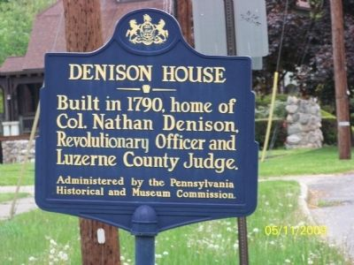 Denison House Marker image. Click for full size.
