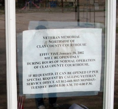 Sign in Window of Door - - Memorial Building Marker image. Click for full size.