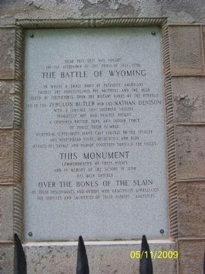 Battle of Wyoming Memorial image. Click for full size.