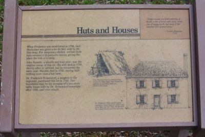 Frederica - Huts and Houses Marker image. Click for full size.