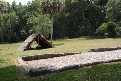 Frederica - Dr. Frederick Holzendorf house ruins and a hut like John Humble's , as mentioned image. Click for full size.