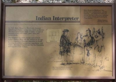 Frederica - Indian Interpreter Marker image. Click for full size.