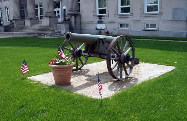 Front View - - Second:: Civil War Cannon image. Click for full size.