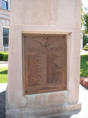 Wider View - - World War II War Memorial Marker image. Click for full size.