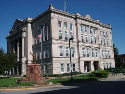 "Putnam County Courthouse - - ""Indiana Street"" Entry (on Right) image. Click for full size."