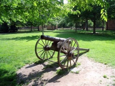 Fort Christanna Cannon located in front of the Wren Building. image. Click for full size.