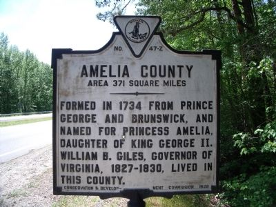 Amelia County Marker image. Click for full size.