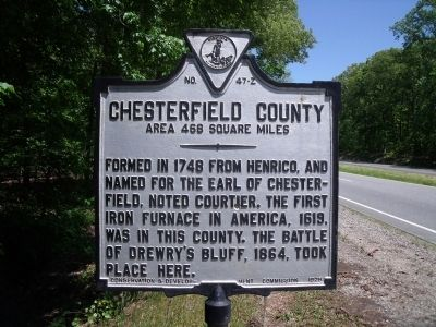 Chesterfield County Marker image. Click for full size.