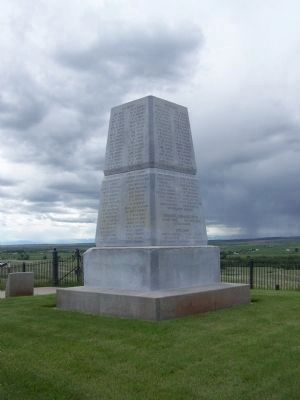 Little Bighorn Battlefield National Monument Marker </b>(Panels 3 and 4) image. Click for full size.