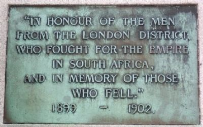 London South African War Memorial Dedication Marker image. Click for full size.