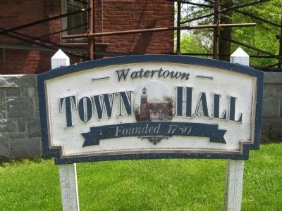 Watertown Town Hall Sign image. Click for full size.