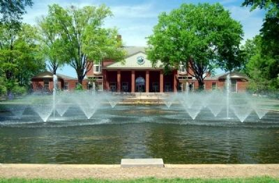 Elizabeth Lyles Blackwell Fountain -<br>Duke Library in Backgrounf image. Click for full size.