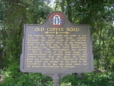 Old Coffee Road Marker image, Touch for more information