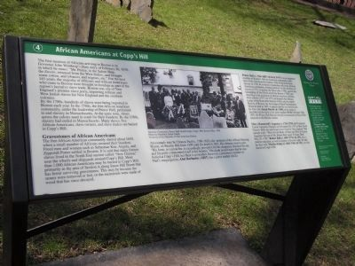 African Americans at Copp's Hill Marker image. Click for full size.