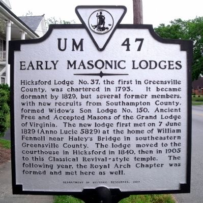 Early Masonic Lodges Marker image. Click for full size.