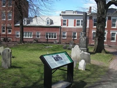 Marker at Copp's Hill Burying Ground image. Click for full size.