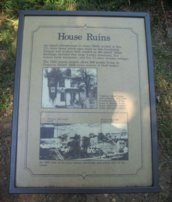 House Ruins Marker image. Click for full size.