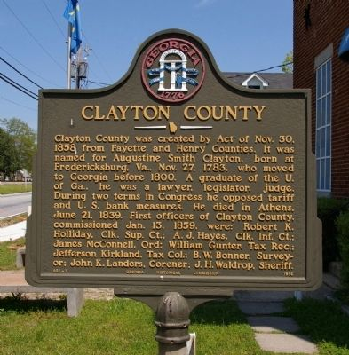 Clayton County Marker image. Click for full size.