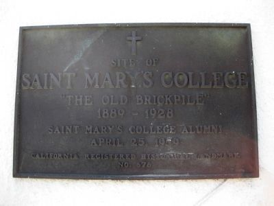Site of Saint Mary's College Marker image. Click for full size.