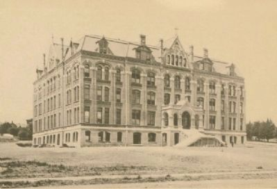 Saint Mary's College, circa 1889 image. Click for full size.