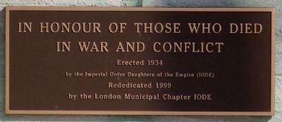 London War Cenotaph Marker image. Click for full size.
