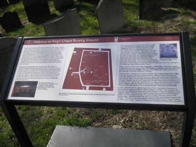Welcome to King's Chapel Burying Ground	Marker image. Click for full size.