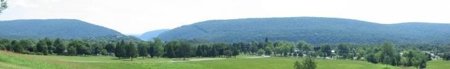 Panoramic View of the Mountains at Harpers Ferry image. Click for full size.