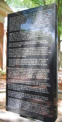 Furman Class of '05 09/11 Memorial - Right image. Click for full size.