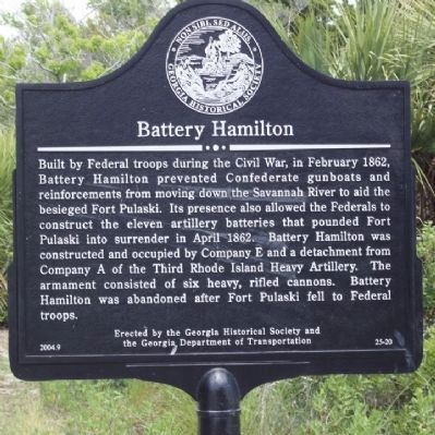 Battery Hamilton Marker image. Click for full size.
