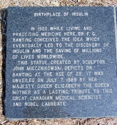 Birthplace of Insulin Marker image. Click for full size.