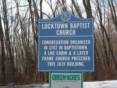 Locktown Baptist Church Marker image. Click for more information.