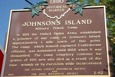 Johnson's Island Marker image. Click for full size.